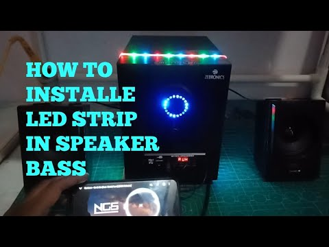 HOW TO INSTALL LED STRIP TO SPEAKER BASS | SIMPLE COLOR ORGAN.