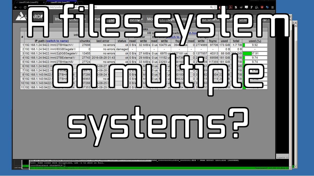 A look at MooseFS and LizardFS distributed file systems