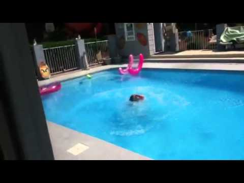 crazy mom jumps in pool with clothes youtube