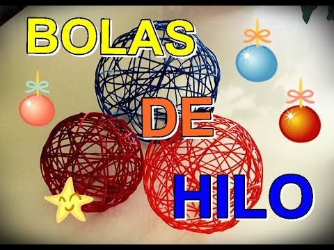 Bolas de hilo para decoracion youtube - Bolas decoracion ...
