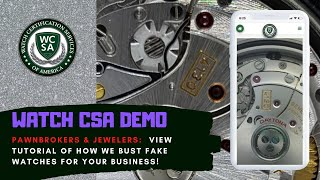 Watch CSA Online Watch Authentication - Pawnbroker/Jeweler DEMO