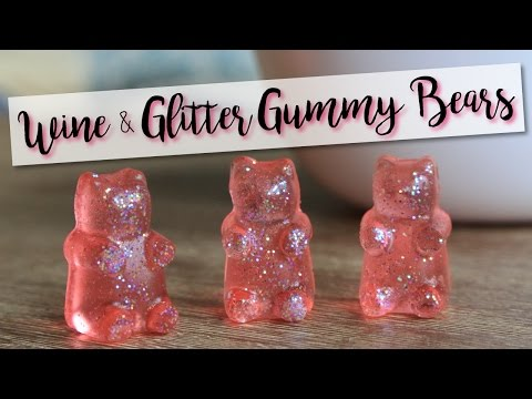 Wine & Glitter Gummy Bears! - Wine Gummy Bears
