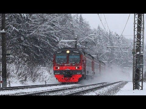 Ярославский ход в снежный день. От пл. Семхоз до ст.Хотьково Московской железной дороги.