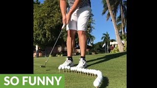 You MUST Wait Until The End To See This Mind-Blowing Golf Trick!