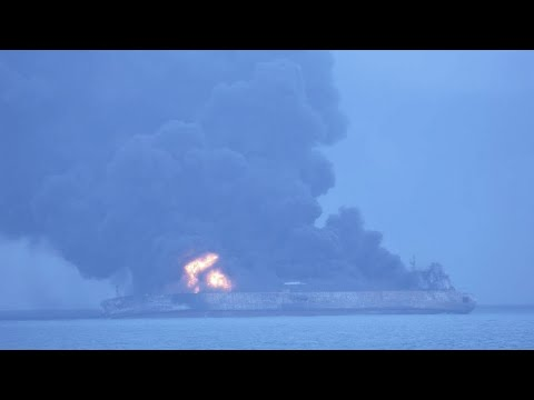 Oil Tanker on Fire off China's Coast Could Explode