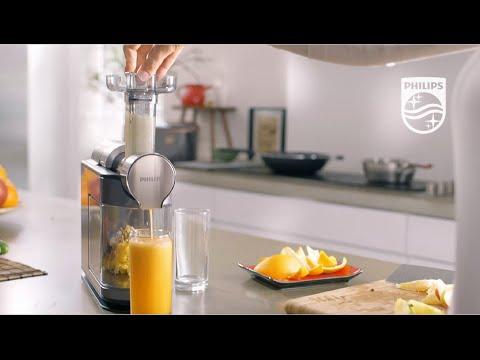 Шнековая соковыжималка Philips HR1897/30 - YouTube