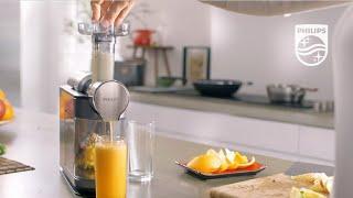 шнековая соковыжималка Philips HR1897: выжимает до 90* сока из фруктов, овощей и ягод