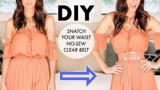 DIY: SNATCH Your WAIST // No-Sew CLEAR Belt!!  -By Orly Shani