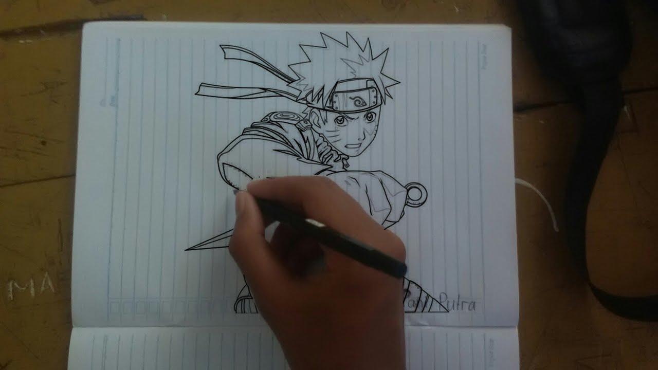 Cara Membuat Gambar Naruto Di Kertaspapan Tulis Youtube