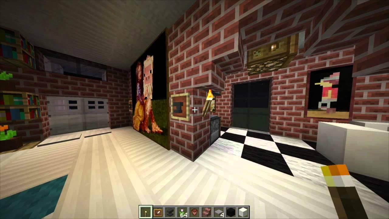 como decorar casita clasica de ladrillo en minecraft