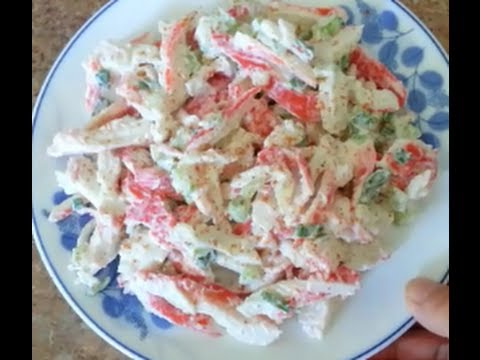 How to make an Imitation Crab Salad  - 99 CENTS ONLY store meal deal recipe