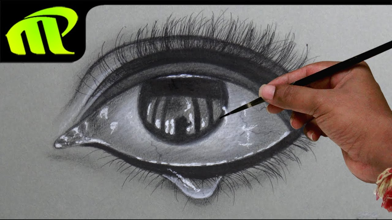 Drawing A Realistic Eye With Tear Drop