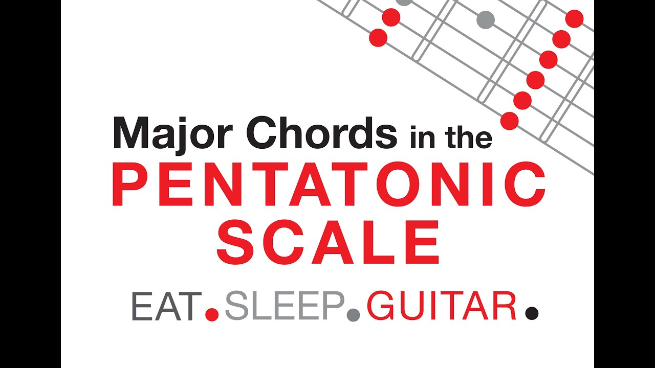 Major Triad Chords Arpeggios Within The Pentatonic Scale For