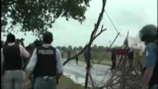 """Represion a Comunidad Qom  """"LA PRIMAVERA""""  (video sin editar)"""