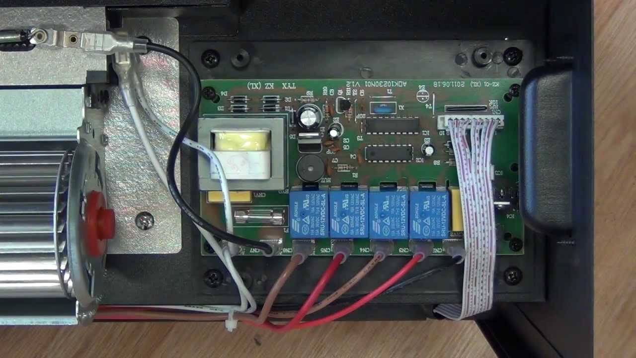 maxresdefault electric fireplace insert circuit board youtube wiring diagram for electric fireplace at webbmarketing.co
