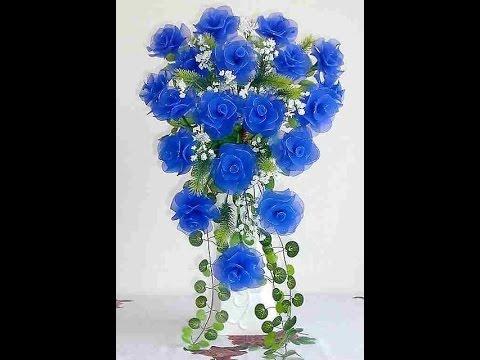 Прелестные цветы из капроновых колготок своими руками