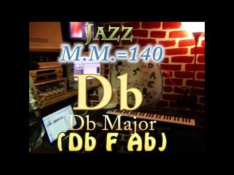 db major (db f ab) - jazz - m.m.=140 - one chord backing track