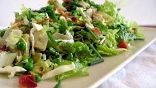 Зеленый салат с артишоками и рисом