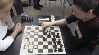 2016-03-27 Bivol - Goriachkina 6-th Blondes vs. Brunettes - chess battle