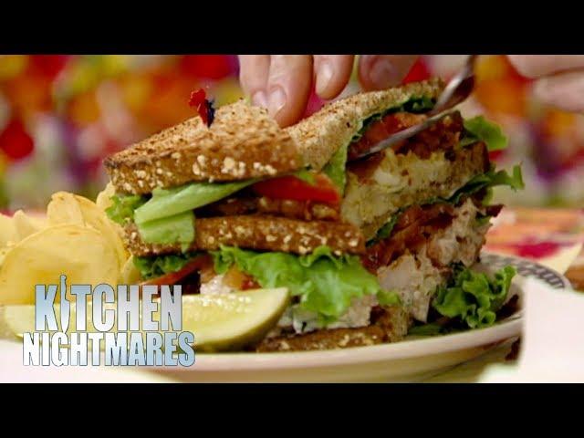 Gordon Struggles To Eat A GIANT Sandwich | Kitchen Nightmares