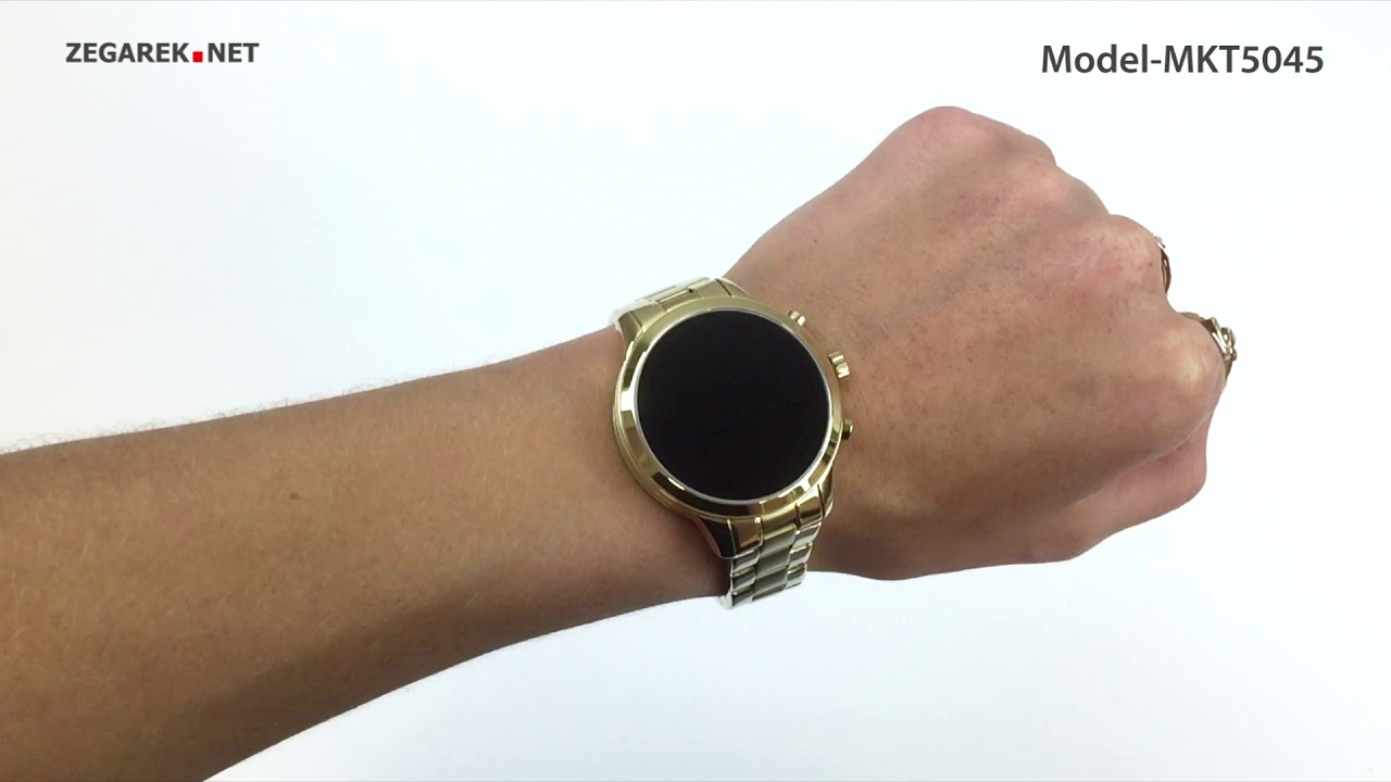 Michael Kors Access Smartwatch MKT5045 Runway Gold Tone Smartwatch