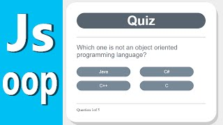 Develop a Quiz App with Javascript - Object Oriented Programming