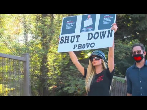 Paris Hilton holds rally in protest of alleged abuse at Provo Canyon School