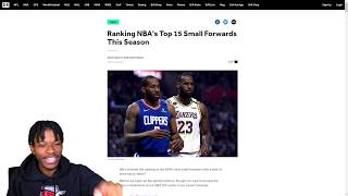 REACTING TO TOP 15 SMALL FORWARDS IN THE NBA