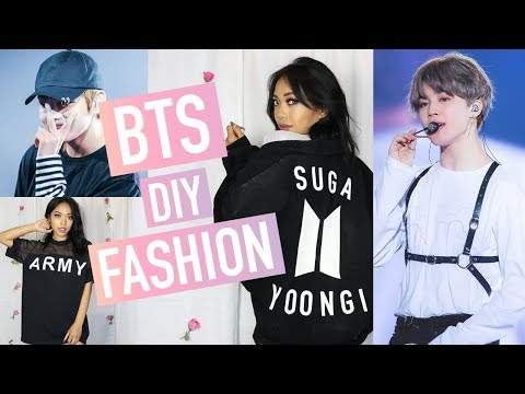 DIY BTS (BANGTAN BOYS) INSPIRED FASHION 방탄소년단 | Nava Rose