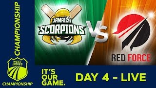 Jamaica v T&T Red Force - Day 4 | West Indies Championship | Sunday 13th January 2019