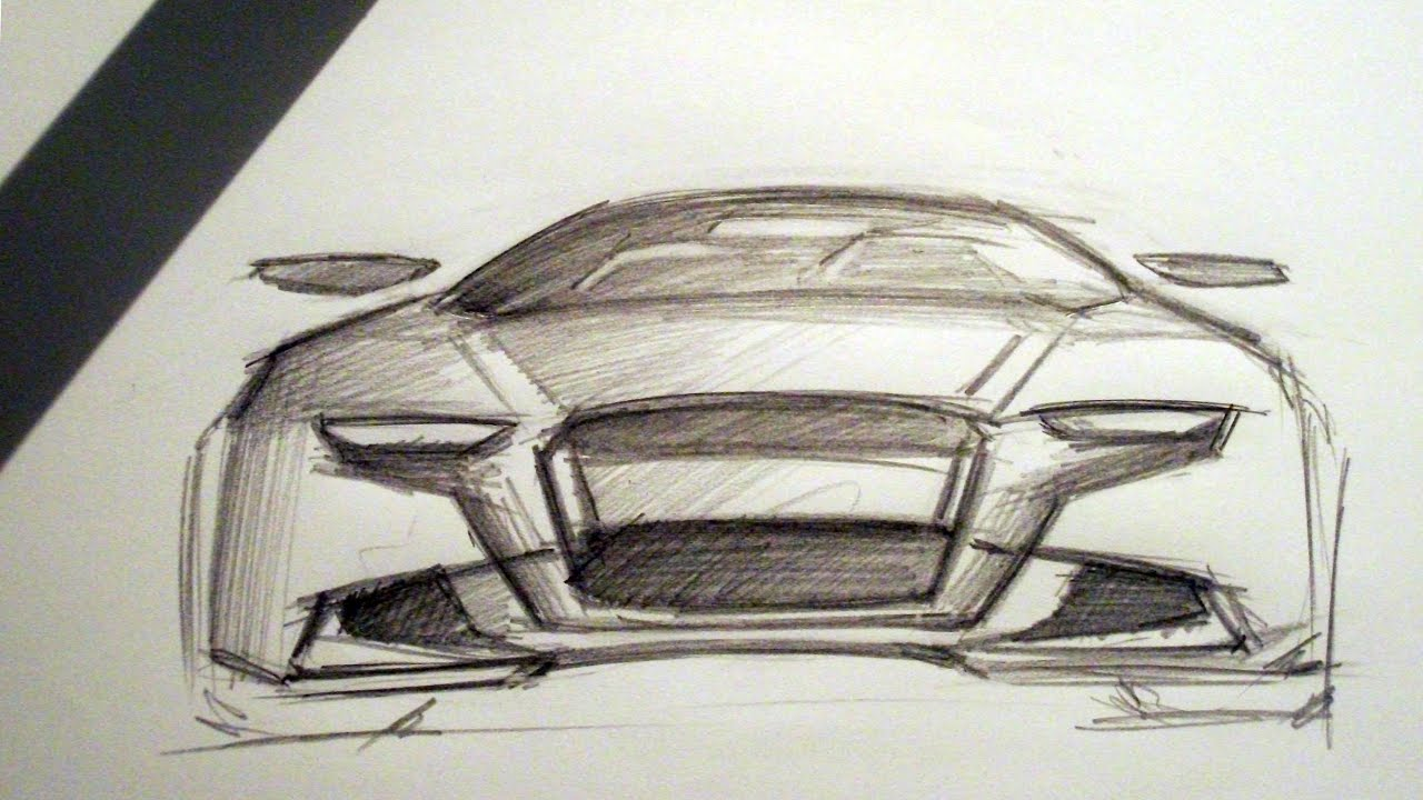 Audi Front View Sketch 16 05 2014 Youtube
