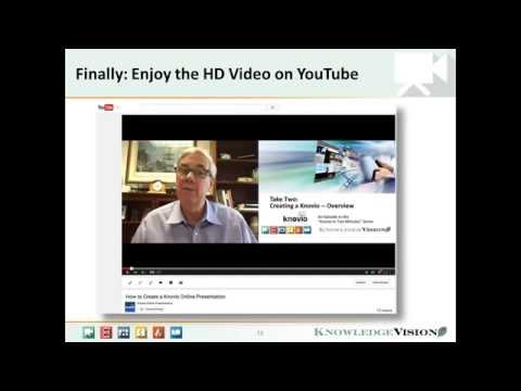 How to Create Instant Multimedia Content for YouTube, using Knovio