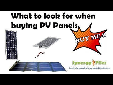 Brief guide to buying solar panels