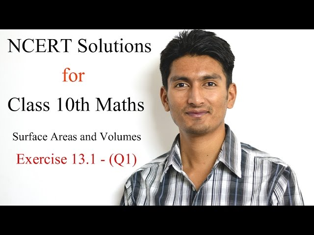 Chapter 13 Exercise 13.1 Q 1 - Surface Areas and Volumes class 10 maths - NCERT Solutions