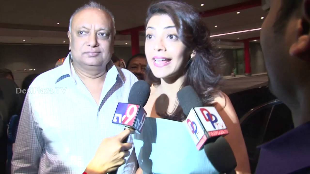 Actress Kajal Agarwal speaking to the media at ATA Convention ,Chicago.