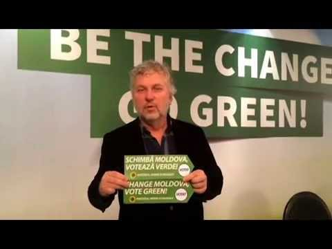 Peter Eriksson support The Green Ecological Partyof Moldova in Elections 2014