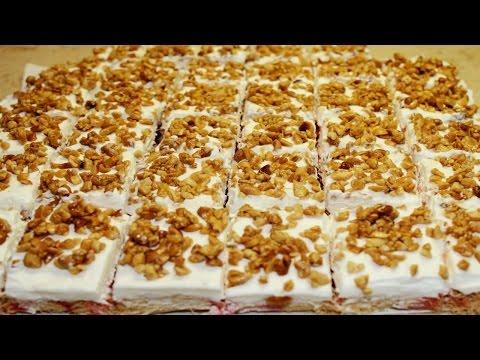 طريقة عمل الكنافة بشربات الورد و الكريمة و السوداني بالعسل - جاتوه الكنافة