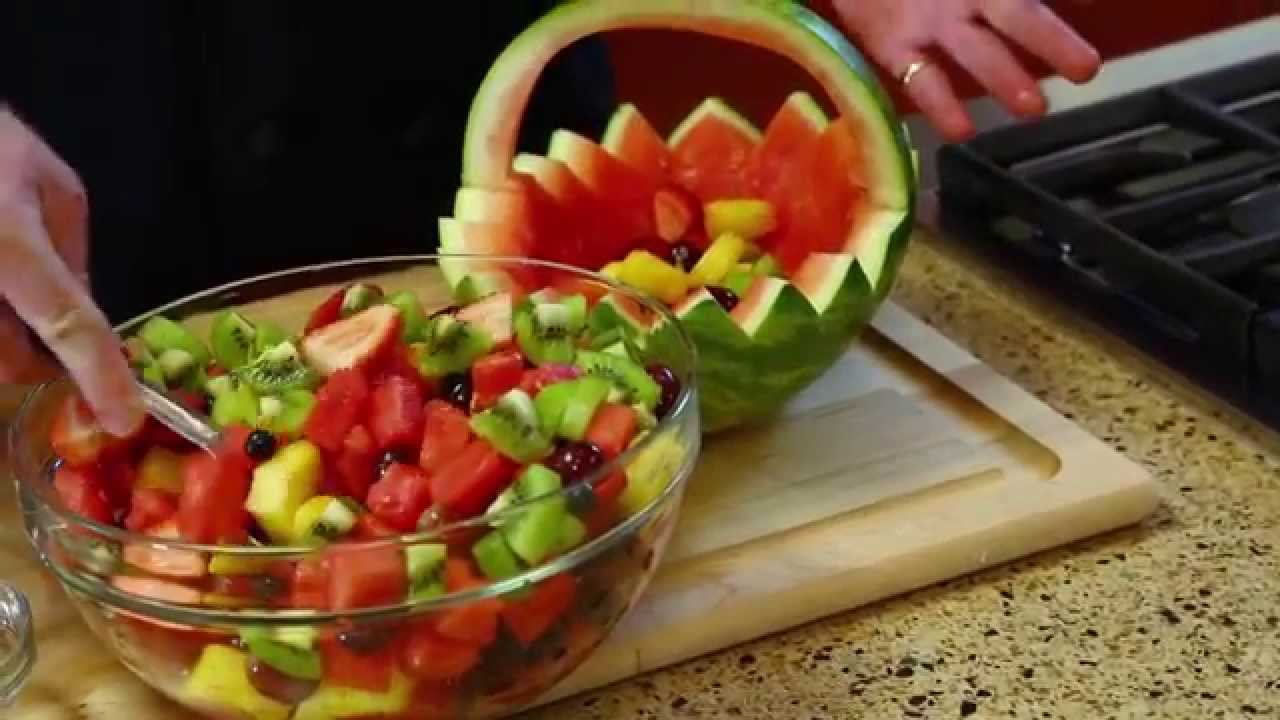 How to carve a watermelon basket youtube
