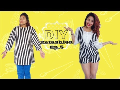 DIY dress to romper : Refashion Ep.5