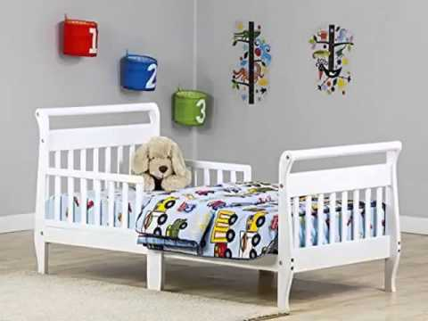 Dream On Me Classic Sleigh Toddler Bed White Youtube