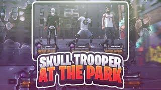 ^NEW^ SKULL TROOPER AT THE PARK NBA 2K18!! FORTNITE BATTLE ROYALE OG SKIN TAKES OVER THE 2K18
