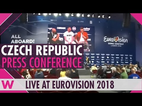 "Czech Republic Second Press Conference: Mikolas Josef, ""Lie to Me"" @ Eurovision 2018 