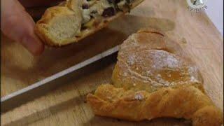 Хлеб с цукини, ветчиной, томатами итд.