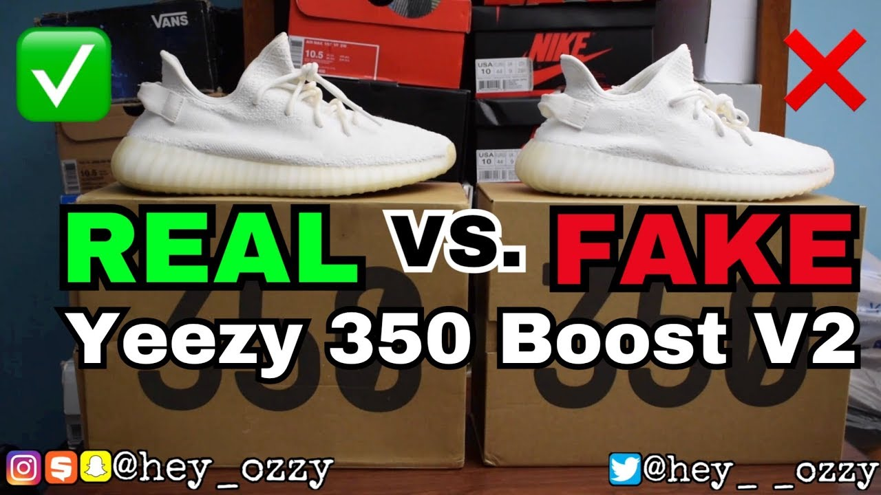 7234577d225 Adidas Yeezy Boost 350 V2 Cream Real vs Fake (UA) Comparison