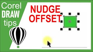 Changing the nudge offset in CorelDraw