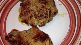 Apple Cider Marinated Pork Chops