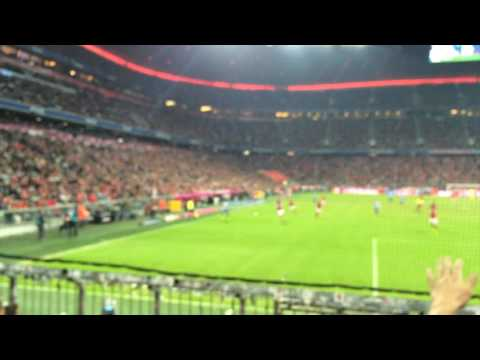 The Allianz Arena atmosphere for Bayern Munich vs Hertha Berlin