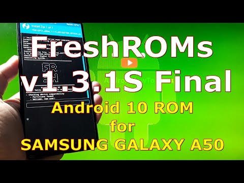 FreshROMs v1.3.1S Final Android 10 for Samsung Galaxy A50 Update: 20210221