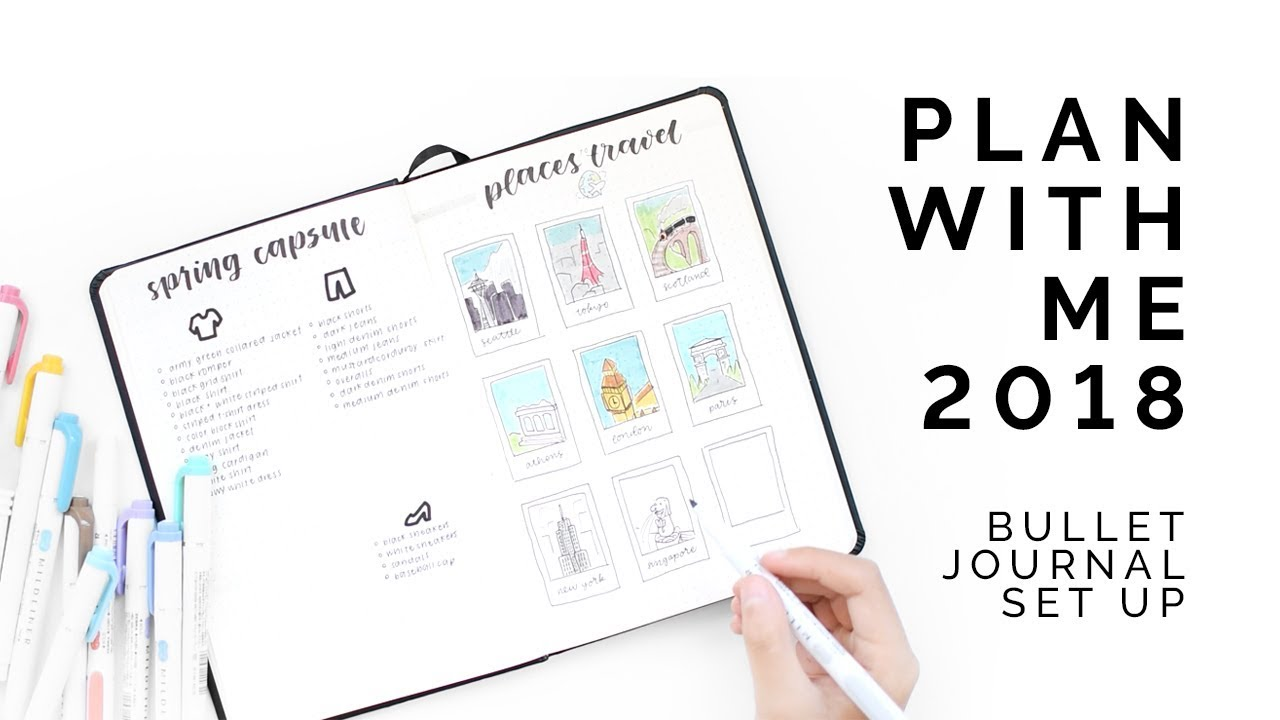 Plan with me 2018 set up youtube for Plan me