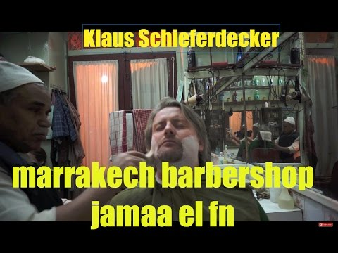 marrakech barbershop - jamaa el fna - shaving